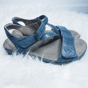 Taos blue green zenith leather sandal